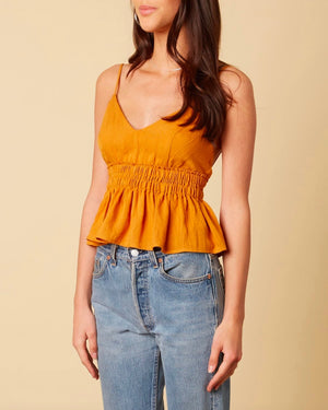 cotton candy la - let's talk - ruffle hem tank top - ginger