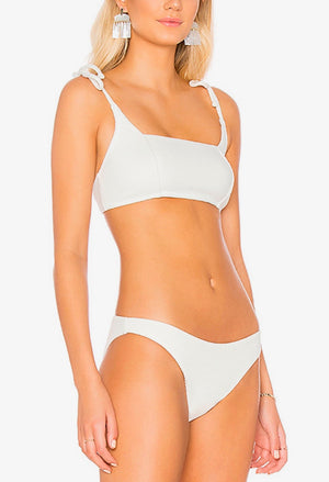 somedays lovin - ripples bikini bottom - off white