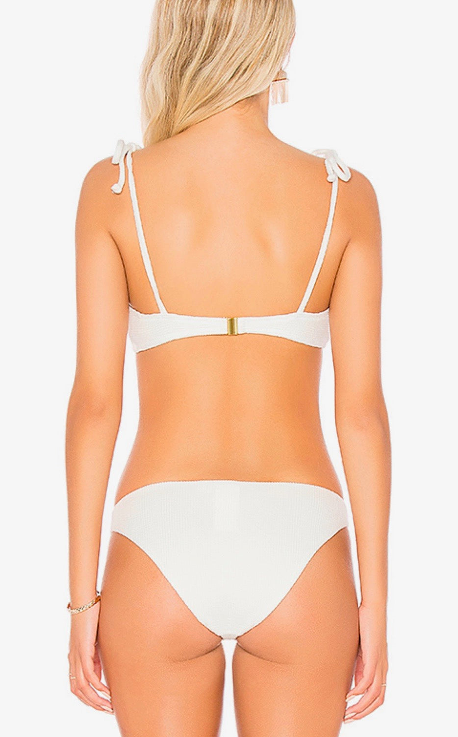 somedays lovin - ripples bikini top - off white