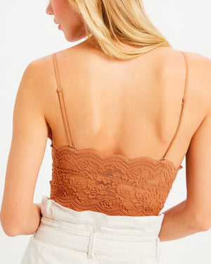 Sheer Lace Longline Brami - More Colors