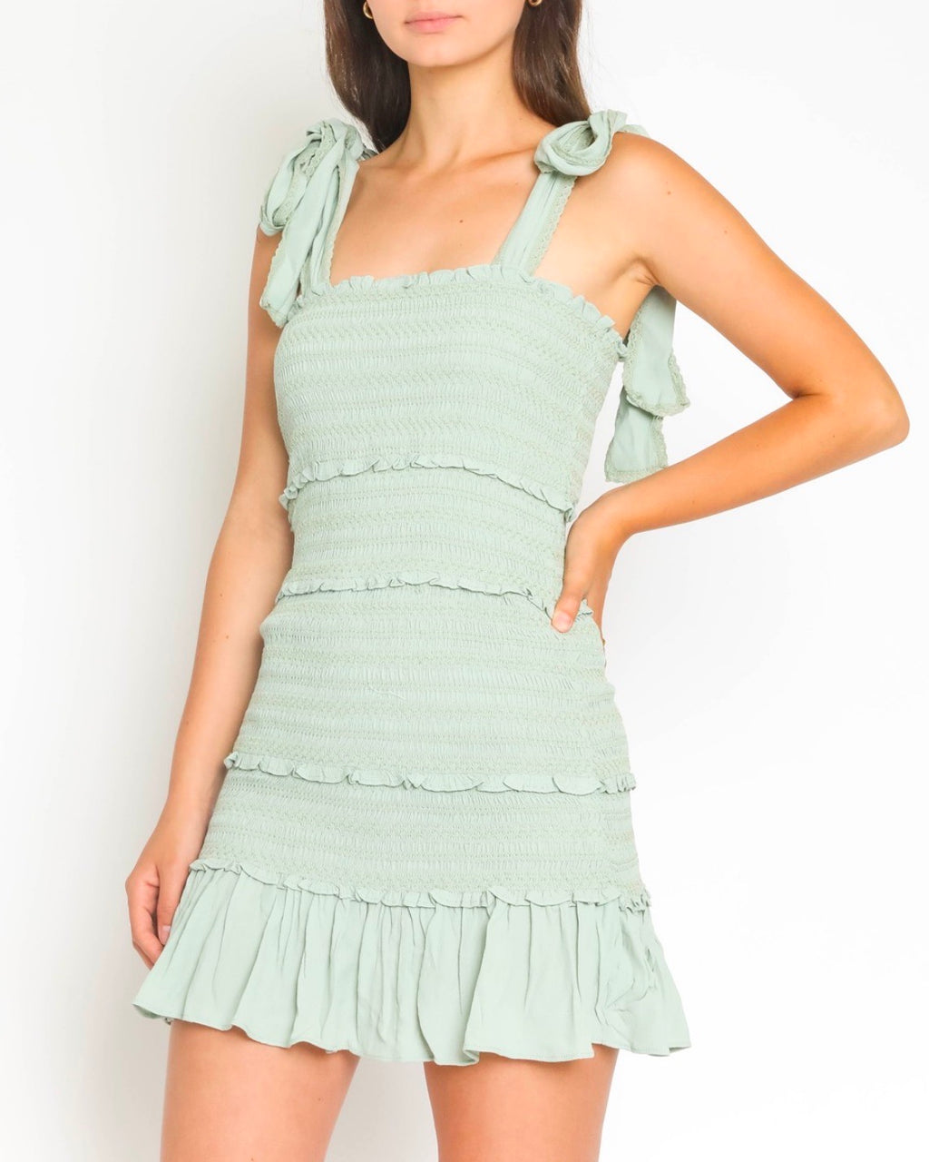 Smocked Ruffle Dress in More Colors