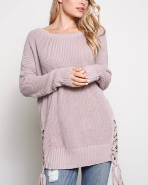 No Bad Days Side Grommet Sweater in More Colors