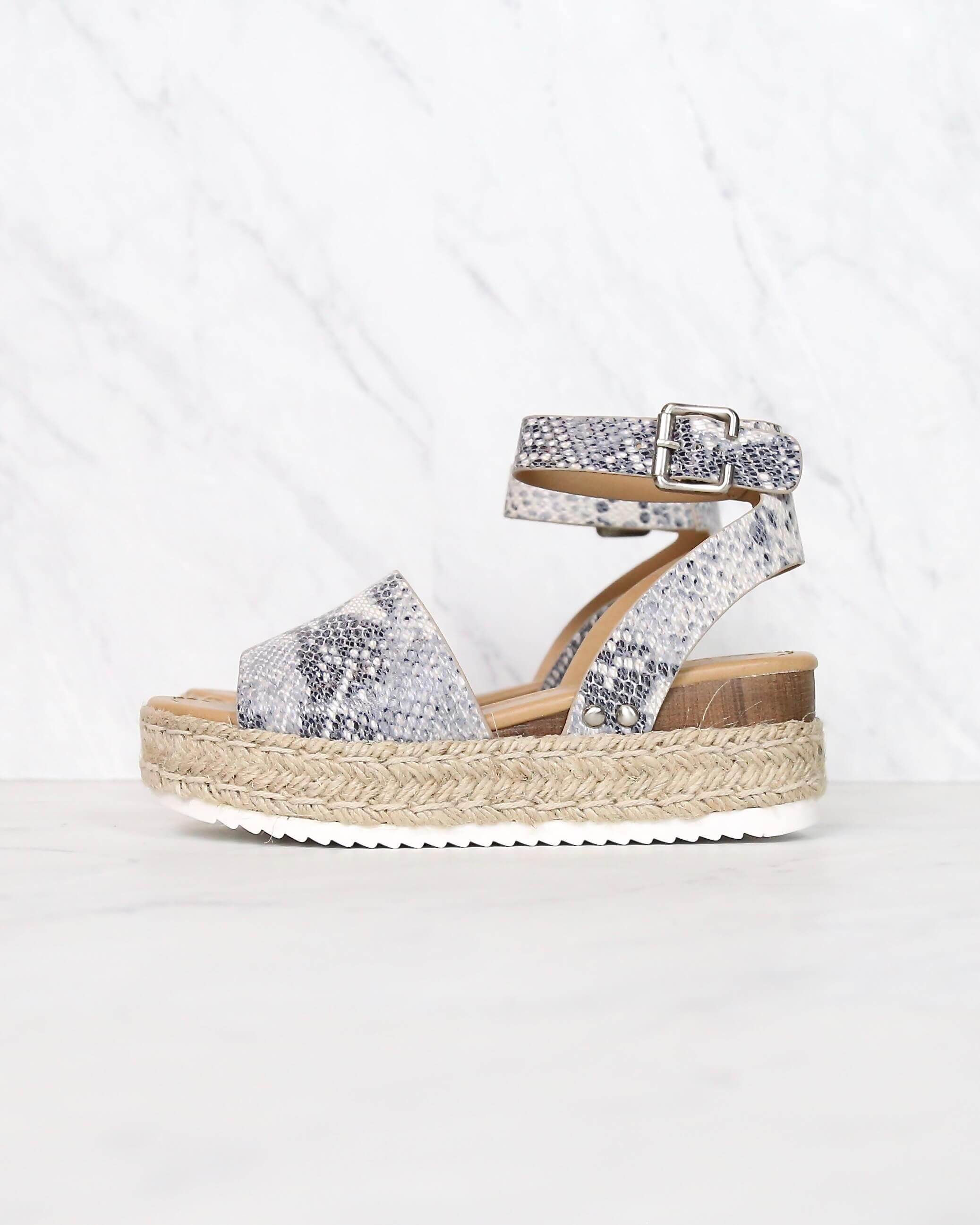 62478847668 Trendy Sporty Flatfrom Espadrille Sandal with Adjustable Ankle Strap i