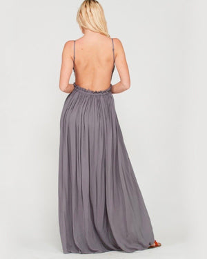 open back crochet maxi dress MIDNIGHT