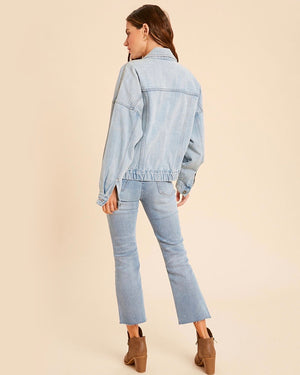 Premium Wash Cotton Denim Jacket in Denim