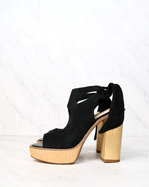 very volatile - rissa cutout ankle tie sandal (women) - Black