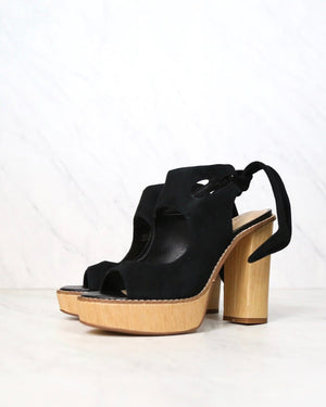 Very Volatile - Rissa Cut Out Ankle Tie Sandals in Black
