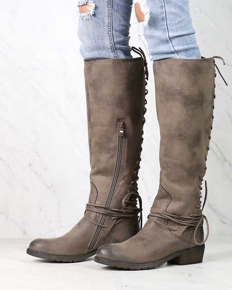 Very Volatile - Miraculous Knee High Zip Boot in More Colors
