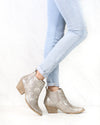 Very Volatile - Motivate Pull On Western Booties in Taupe