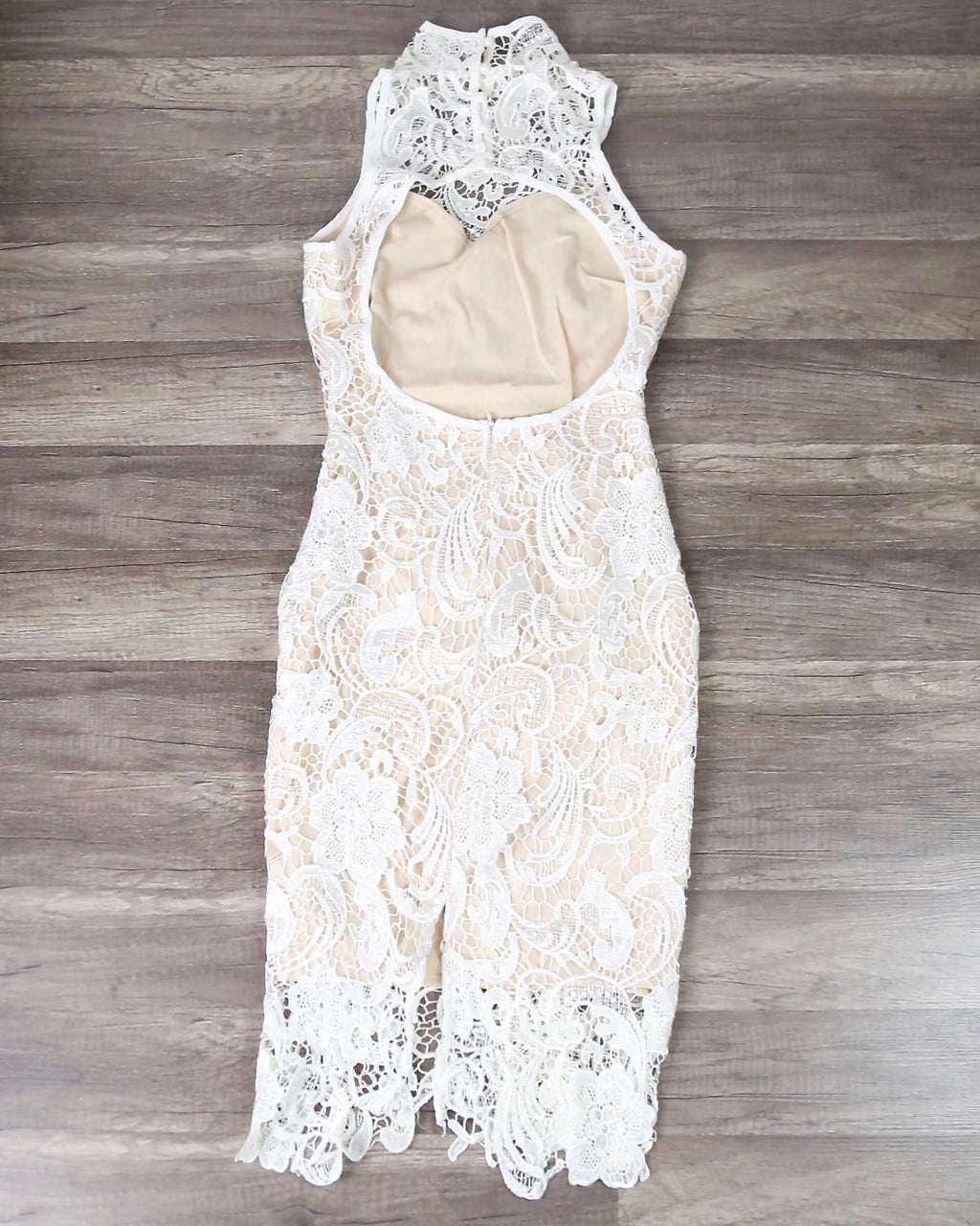 Lioness - Loves Divine Midi Lace Overlay Midi Dress - White