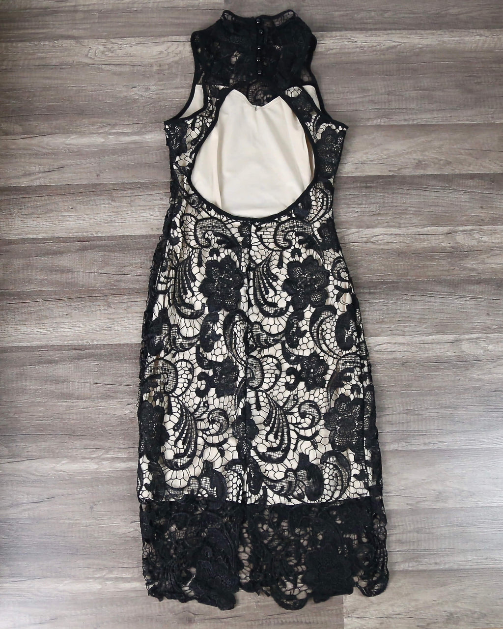 Lioness - Loves Divine Midi Lace Overlay Midi Dress - Black