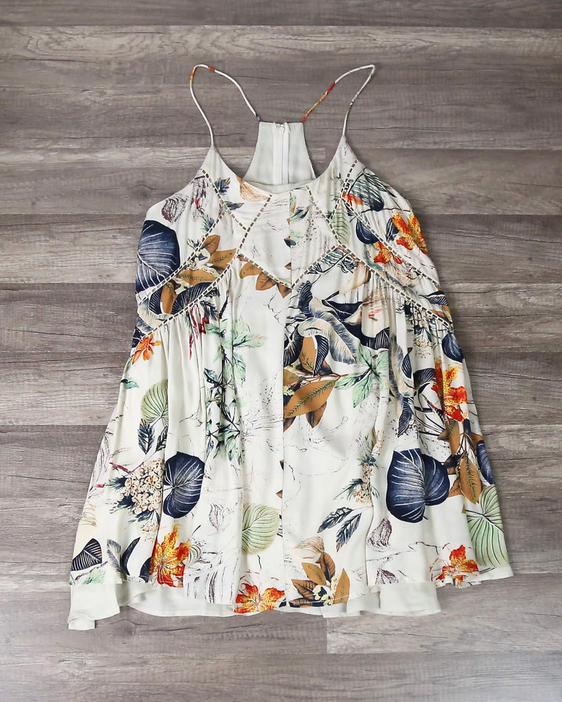 Final Sale - X Shophearts - Bohemian Day Dress in Tropical Print