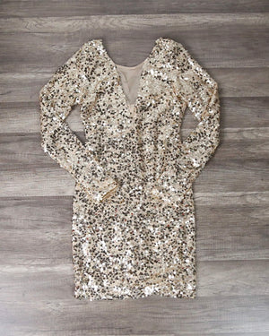 Dazzling Sequin Party Dress in More Colors