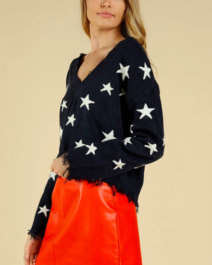 wildfox seeing stars knit sweater, knitted christmas sweater star wars