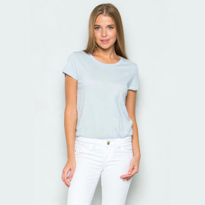 Cotton Tee Shirt Bodysuit in More Colors