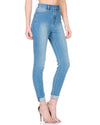 Aliyah - High Rise Medium Blue Super Skinny Denim Jeans