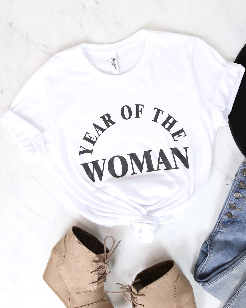 Distracted - Year Of The Woman Graphic Tee - White