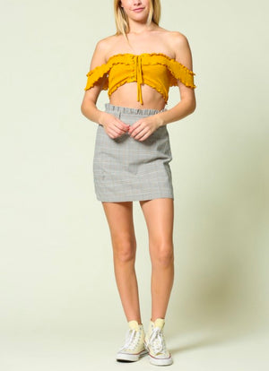 illa illa - smocked crop top - more colors