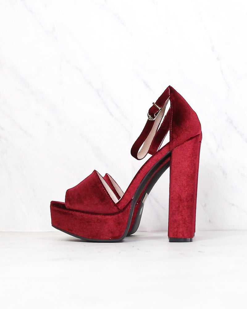chinese laundry - ace velvet platform heel - more colors