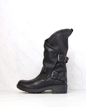 Coolway - Alida Leather Motorcycle Boots in Black