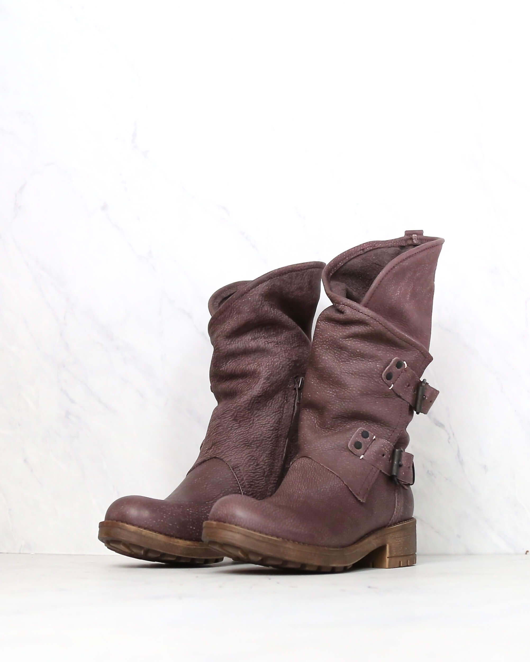 discount sale wholesale sales thoughts on coolway - Alida leather motorcycle boots - dark brown