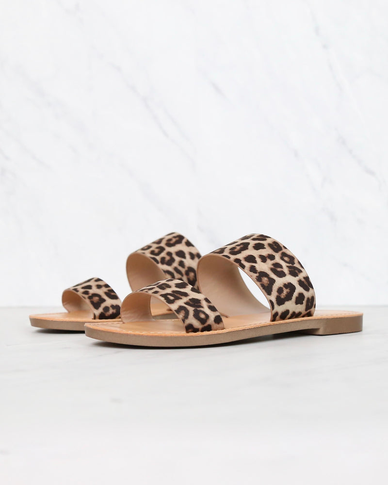harmony - double strap cheetah animal print sandal - cheetah