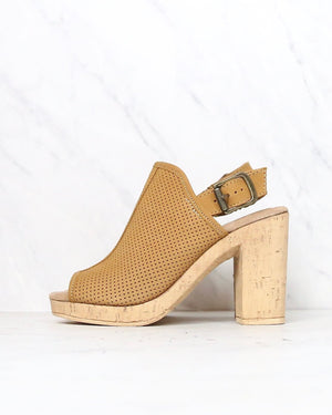 Sbicca - Almonte Open Toe Perforated Heel Sandal in Tan