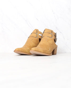 Miracle Miles - Altair Western Paneled Pointed Toe Open Booties in More Colors