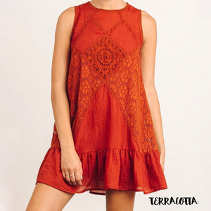 Mock Neck Lace Dress in More Colors
