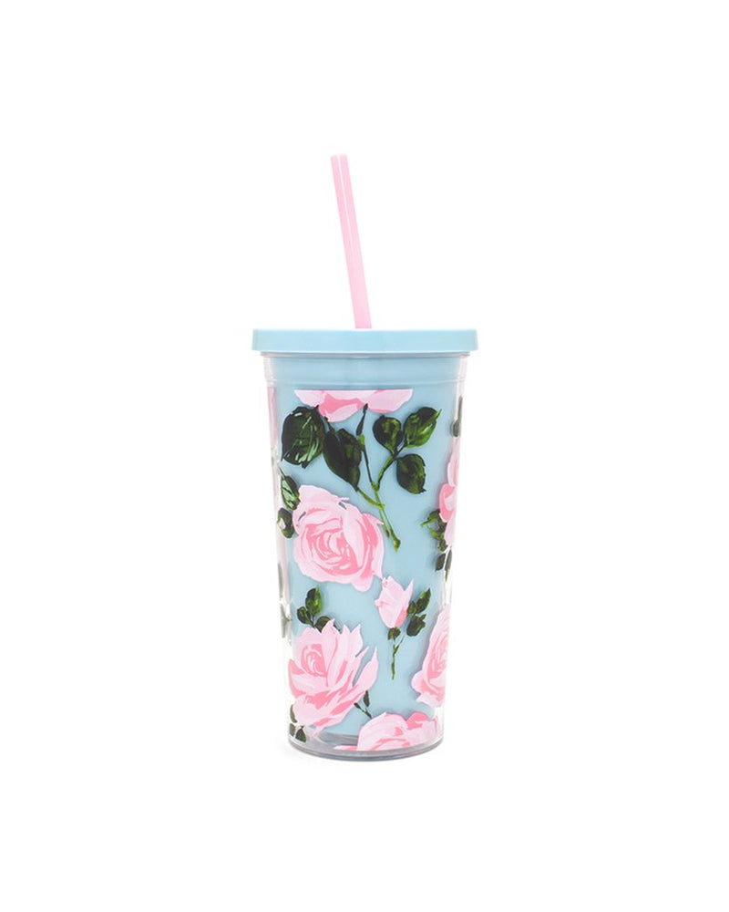 Ban.do - Sip Sip Tumbler with Stra in Rose Parade