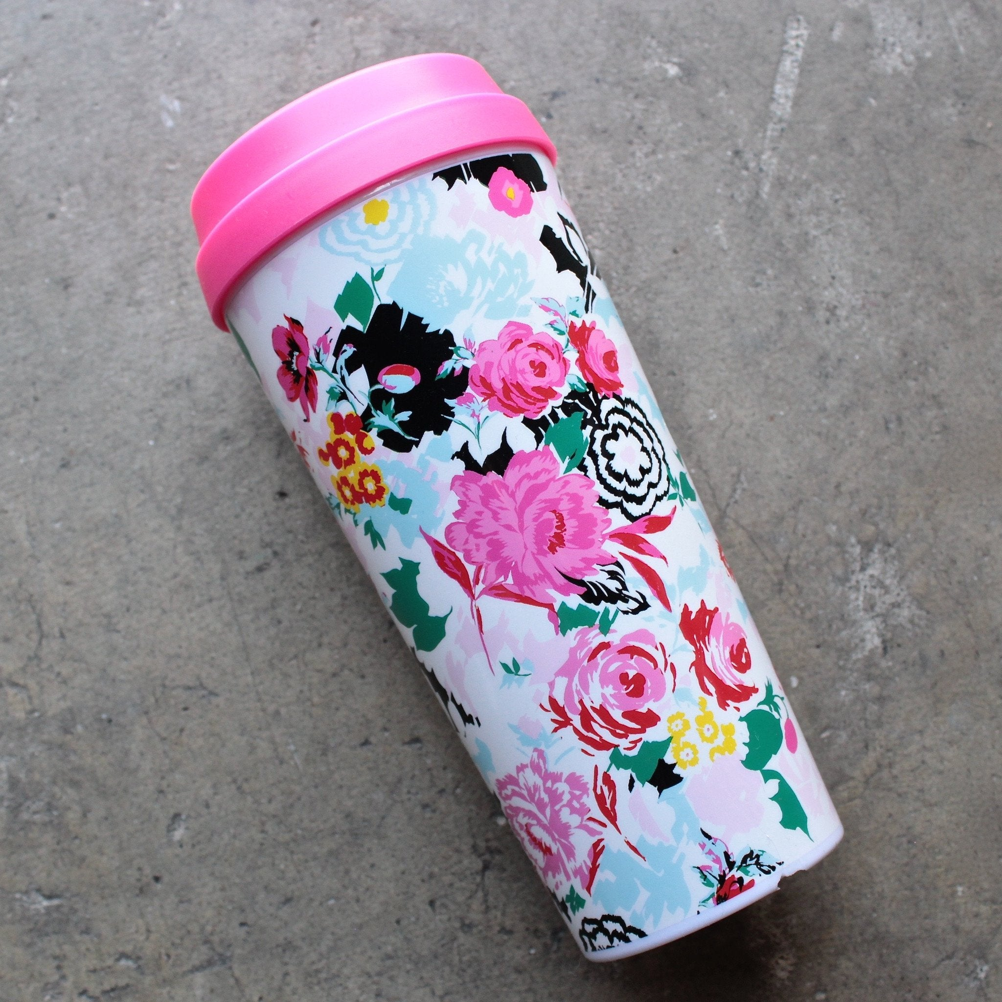 ban.do 'hot stuff' thermal travel mug - florabunda - shophearts - 1