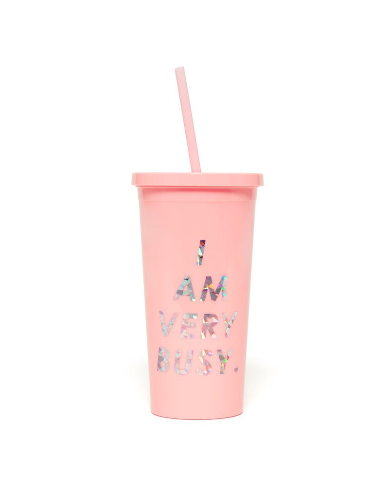 Ban.do - Sip Sip Tumbler with Straw in I Am Very Busy