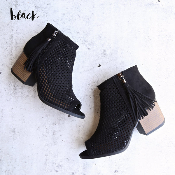 Olivia perforated ankle booties - more colors