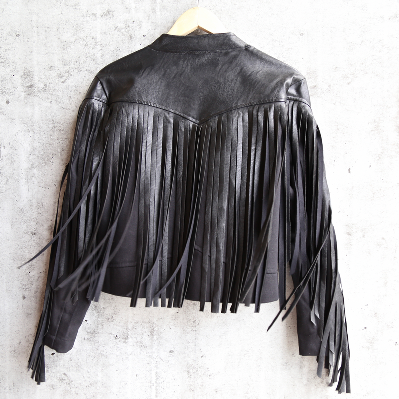 Final Sale - Somedays Lovin - Born Again Faux Leather Denim Moto Jacket