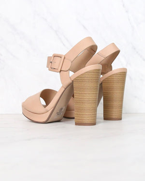 Buckle Up! Ankle Strapped High Heels in Dusty Mauve