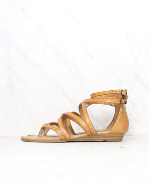 Blowfish - Women's Bungalow Wedge Sandal in Desert Sand Dye Cut