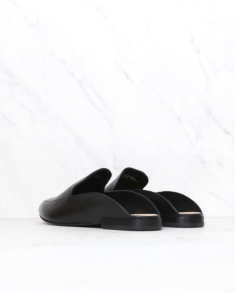 Chinese Laundry x Kristin Cavallari - Capri Black Leather Loafer Slides