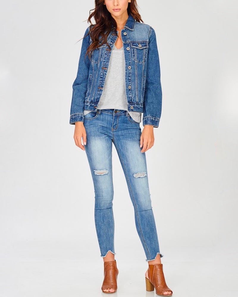 Classic Denim Jean Jacket - Light & Dark Washes