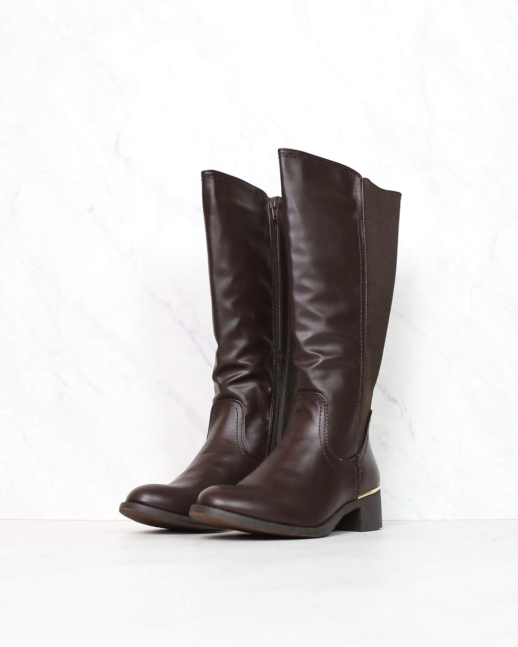 Classic Tall Riding Boots in Brown
