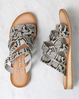 coconuts by matisse - ladylike sandals - white snake