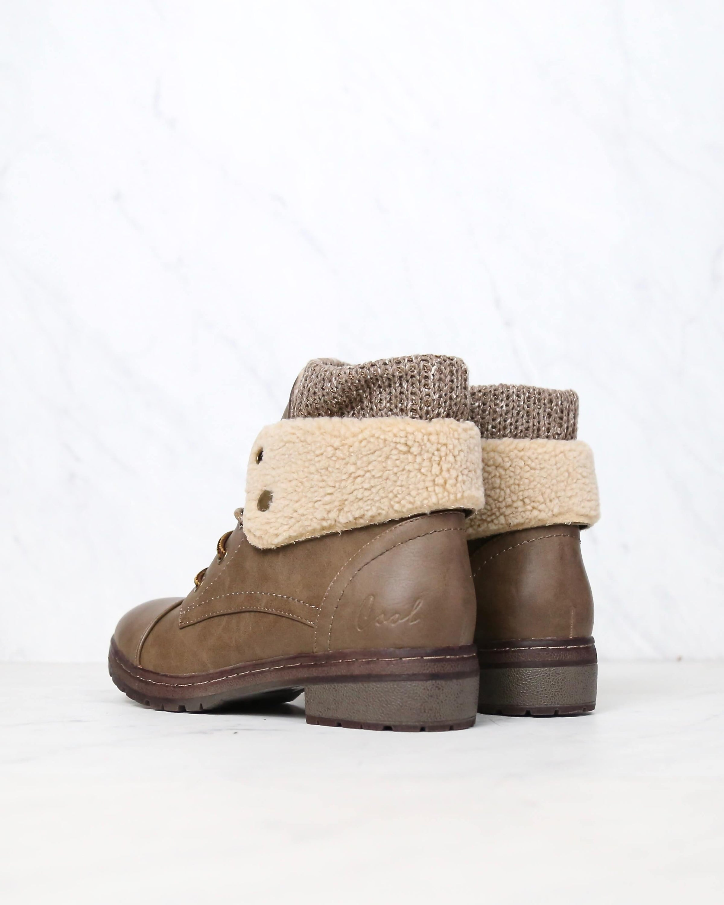 100% original exceptional range of styles latest style of 2019 coolway - bring leather knit sweater cuff ankle boots - more colors