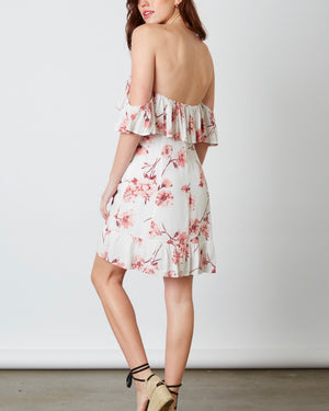 Cotton Candy La - Love Or Lust Off The Shoulder Floral Mini Dress - White