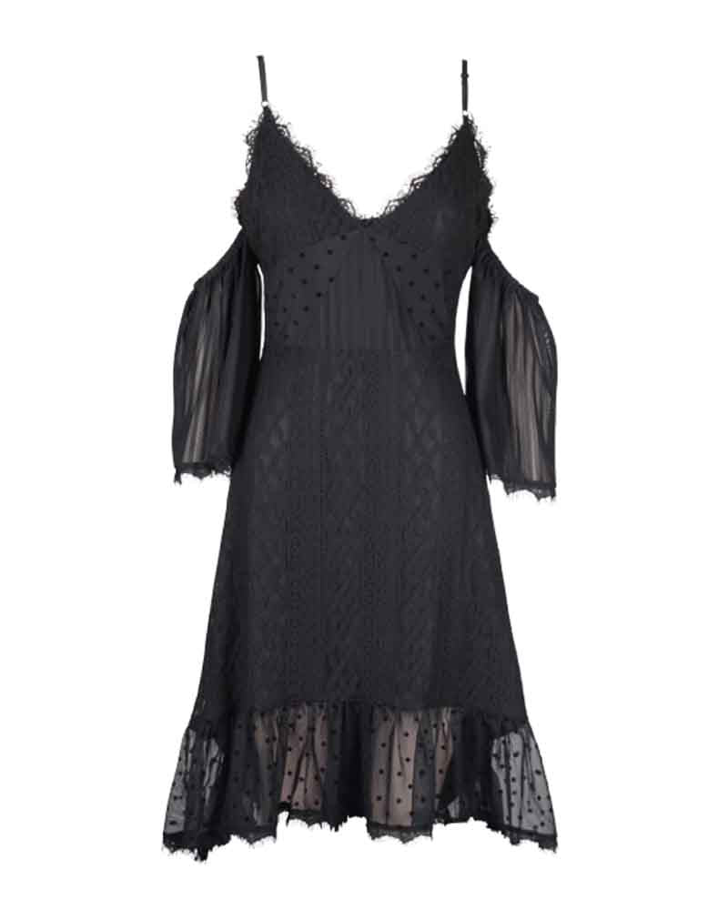 minkpink - dark romance lace dress - black