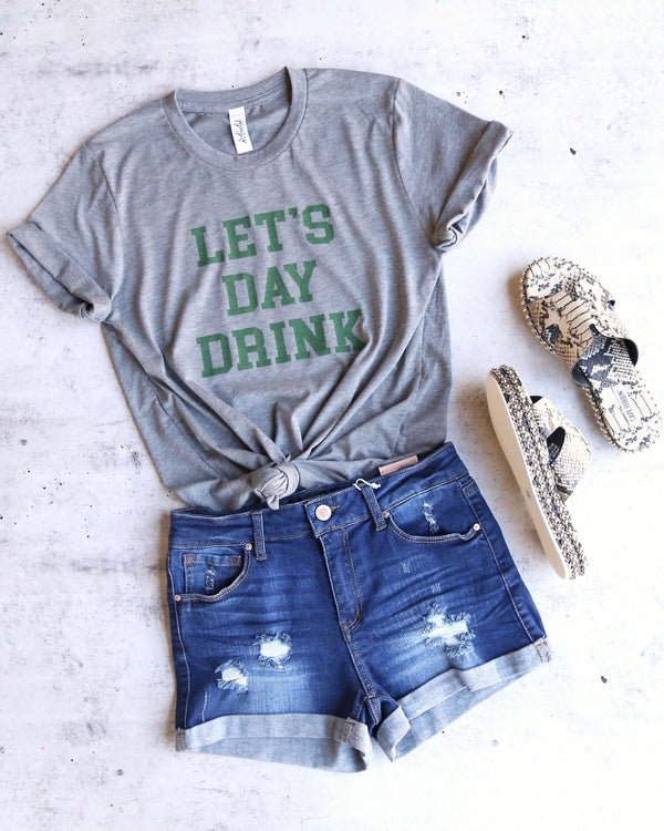 Distracted - Let's Day Drink Saint Patrick's Day Unisex T-Shirt in Heather Grey