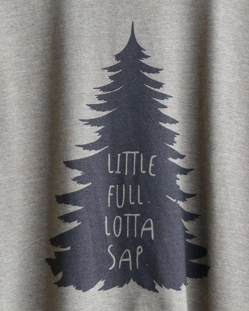 Distracted - Little Full Lotta Sap Unisex Christmas Tree T-Shirt in Heather Olive