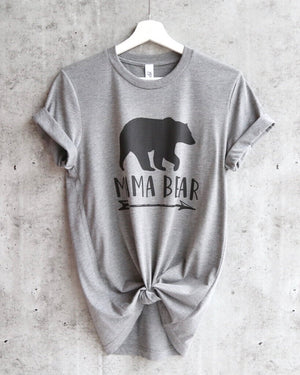 distracted - mama bear unisex tshirt - heather grey