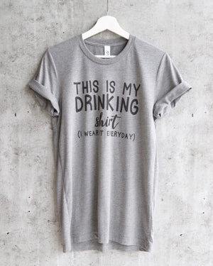 distracted - this is my drinking shirt. I wear it everyday. unisex tshirt - heather grey