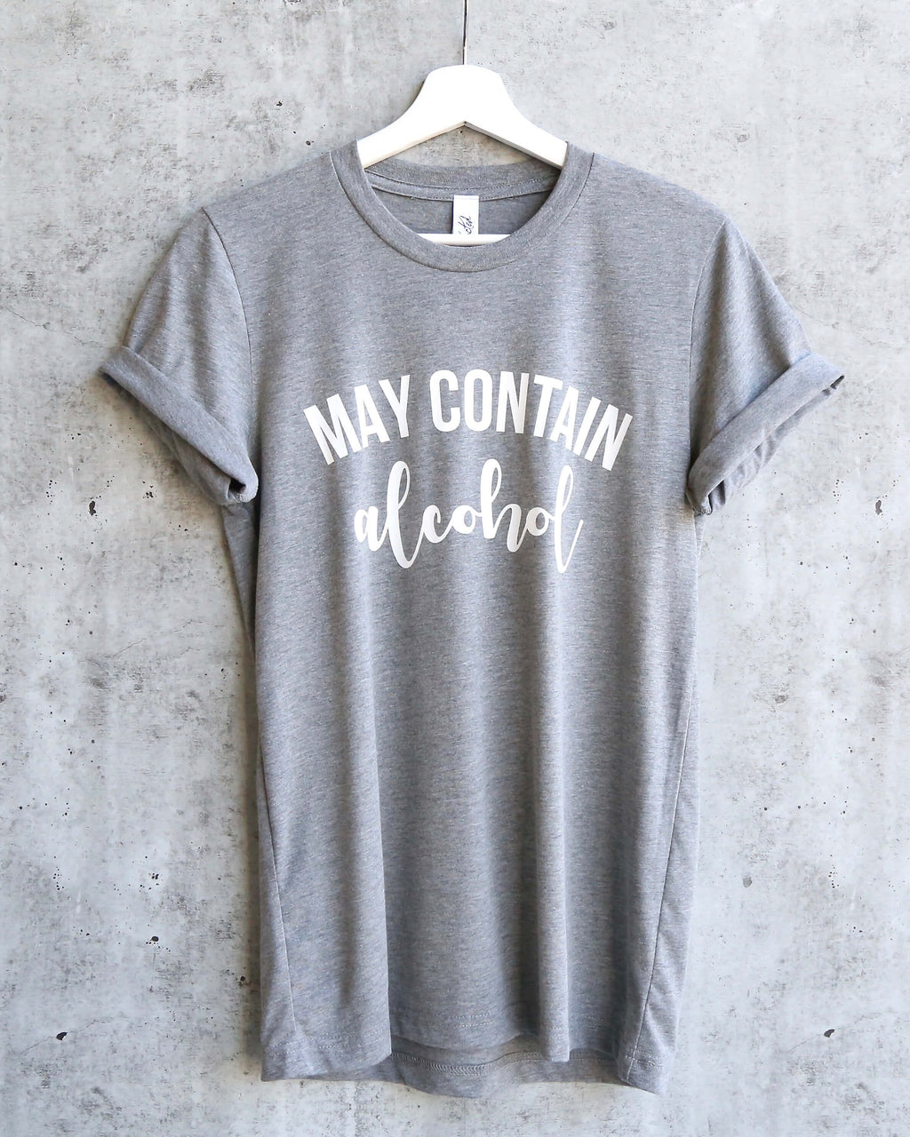 distracted - may contain... unisex tshirt - heather grey