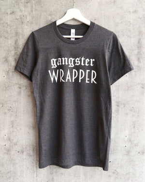 distracted - gangster wrapper unisex graphic tee - dark heather grey