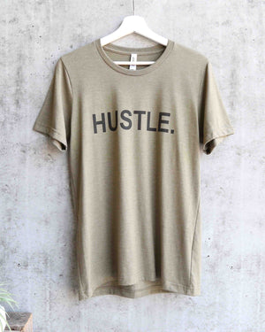 distracted - hustle unisex graphic tee - olive